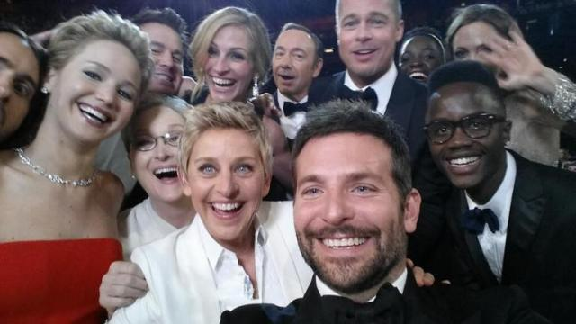 Host Ellen DeGeneres promoted Samsung by using a Samsung Galaxy Note 3 to take a selfie with several actors during the ceremony.