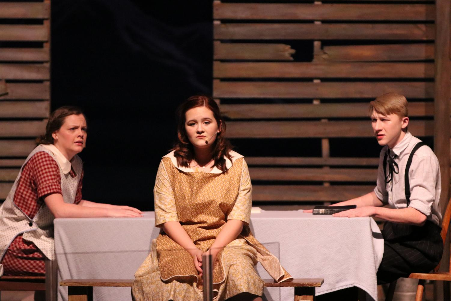 Lizzy Cooper, Ava Bryant and Hayden Olds star in the latest theater production, Bright Star.