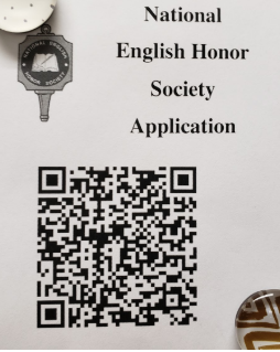QR Code Available For English Honor Society Applications