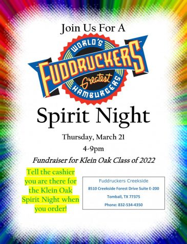 Fuddrucker's Spirit Night - Thurs., March 21