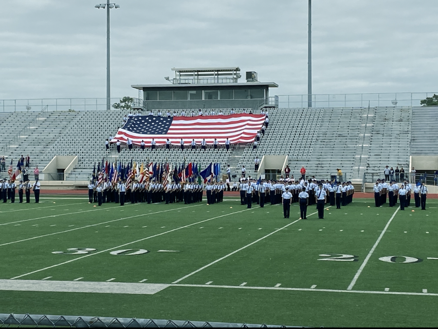 All+of+the+Klein+ISD+high+school+squadrons+stand+in+formation+at+attention+ready+to+proudly+honor+the+attending+veterans+after+weeks+of+preparation+for+the+ceremony.+