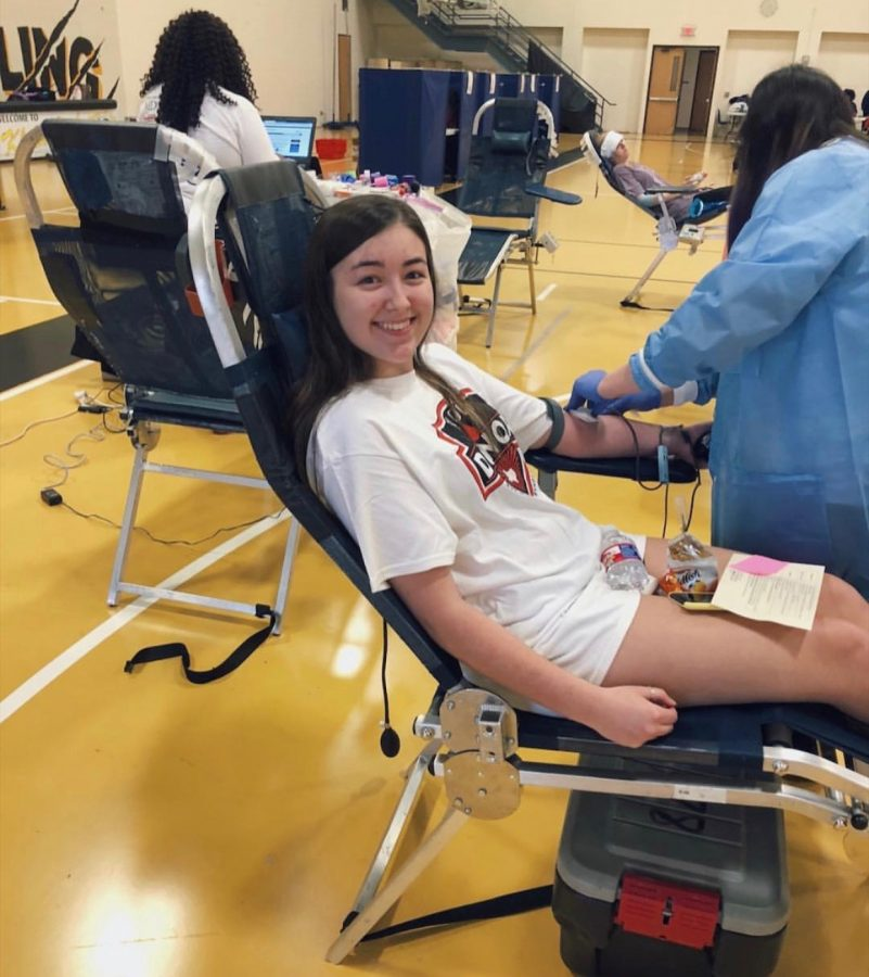 Professionals from the mobile blood bank will set up shop in the gym on Monday, Feb. 3 to collect donations from students, faculty and community members. Last year, students like current senior Haley Hufstedler stepped up to help donate when it was needed most.