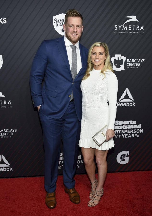 JJ+Watt+and+Kealia+Ohai+attend+a+Sports+Illustrated+event+in+2017+when+they+were+just+dating.
