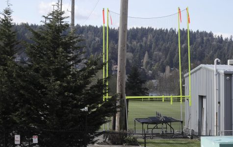 Goal posts and other training equipment sit idle at the Seattle Seahawks' NFL football practice facility and headquarters Wednesday, March 25, 2020, in Renton, Wash. NFL Commissioner Roger Goodell has instructed all 32 teams to close their facilities to all but a select few employees as a safeguard against the new coronavirus. Now the teams plan to complete the 2020 NFL Draft virtually for three days starting Thursday, April 23.
