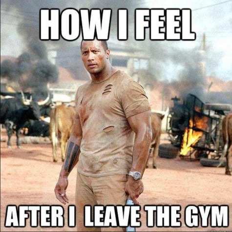 Besides a day of learning-at-home online assignments, students are finding ways to stay active as well. Some find their workout inspiration from memes.
