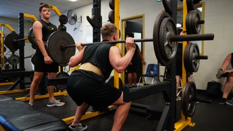 On the last day of school before spring break which ultimately turned into the last day of classes on campus, football players like junior Nathan Grychka were maxing out in the weight room. Spring sports ended almost as soon as they started and football