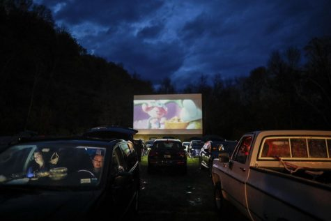"Outdoor theaters play ""Trolls World Tour"" at the Four Brothers Drive-In Theatre amid the Coronavirus pandemic. Local students and families head to Showboat Drive-In, just outside of Tomball."