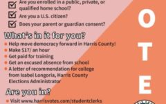 Students 16 and older are given a chance to experience working a local election while earning a paycheck.